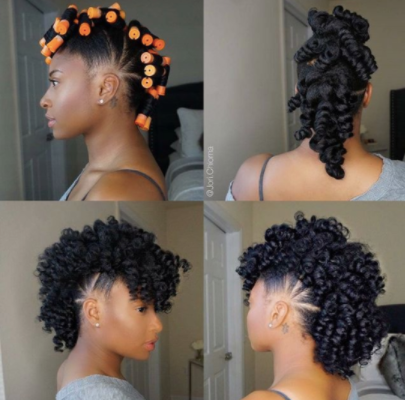 collage of a black woman with different stages of the fawkhawk