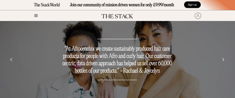 Afrocenchix quote post press mention in TheStackWorld: 25 black female founders to Invest Now May 2021