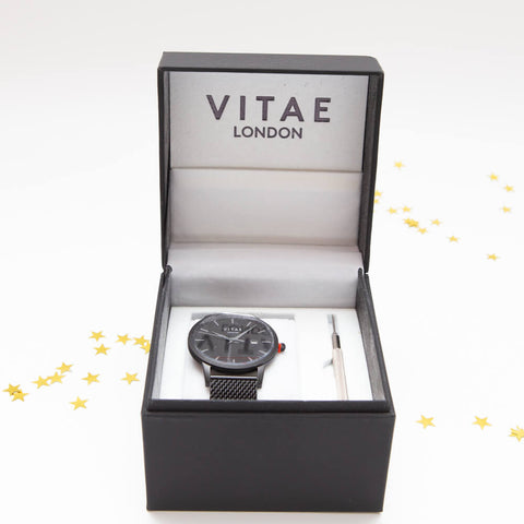 Vitae London Silver Luxury Watch in gift box