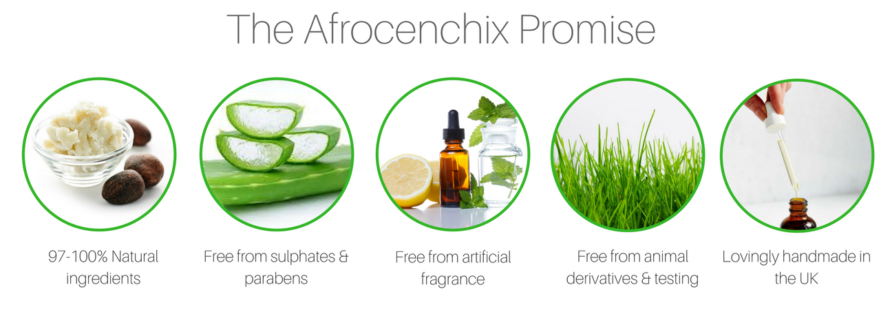 The Afrocenchix Promise that all our natural hair care products keep to