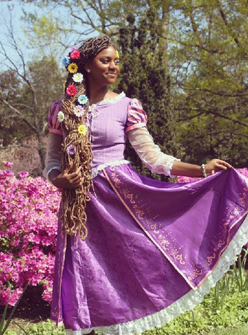 blackprincessdmv Instagram, pretty black woman with tangled-inspired Disney hairstyles for natural hair Afrocenchix article