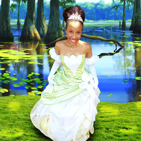 princessindigospalace from Instagram with Tiana Princess Puff, Disney Hairstyles for natural hair Afrocenchix Article