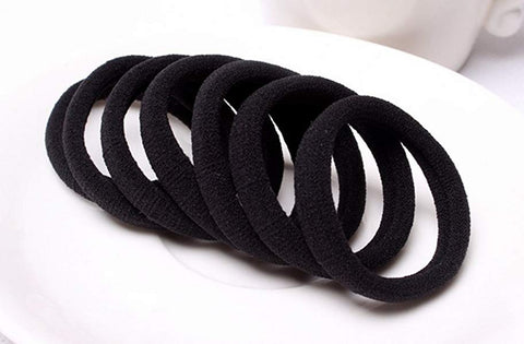 Non metal or plastic catch hair ties