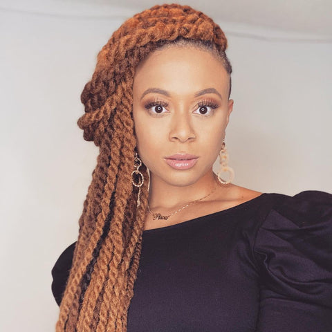 Side Swept Twists Prom Hairstyles for Black Girls Afrocenchix