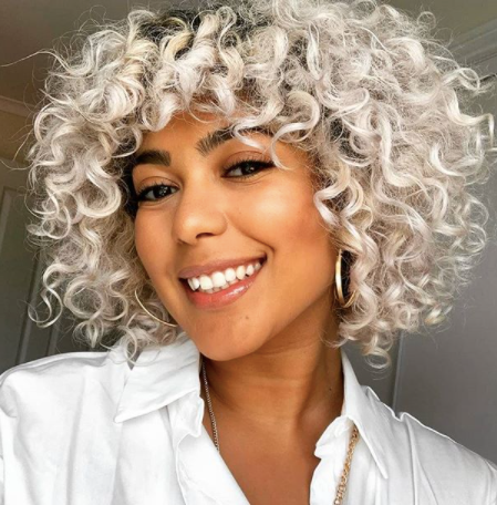 thecurlsguide smiling woman with curly grey hair