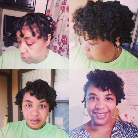 braidout short afro hairstyle for black women