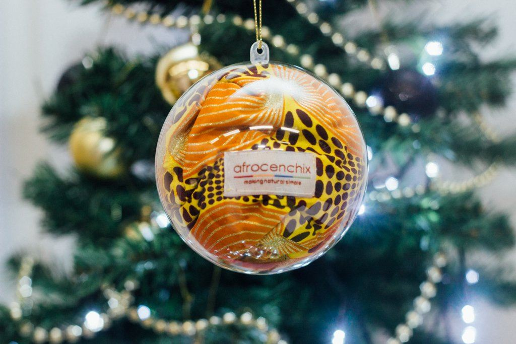 Limited Edition Festive African Print Bonnet Bauble