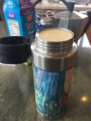 Stovetop Espresso in a travel coffe mug