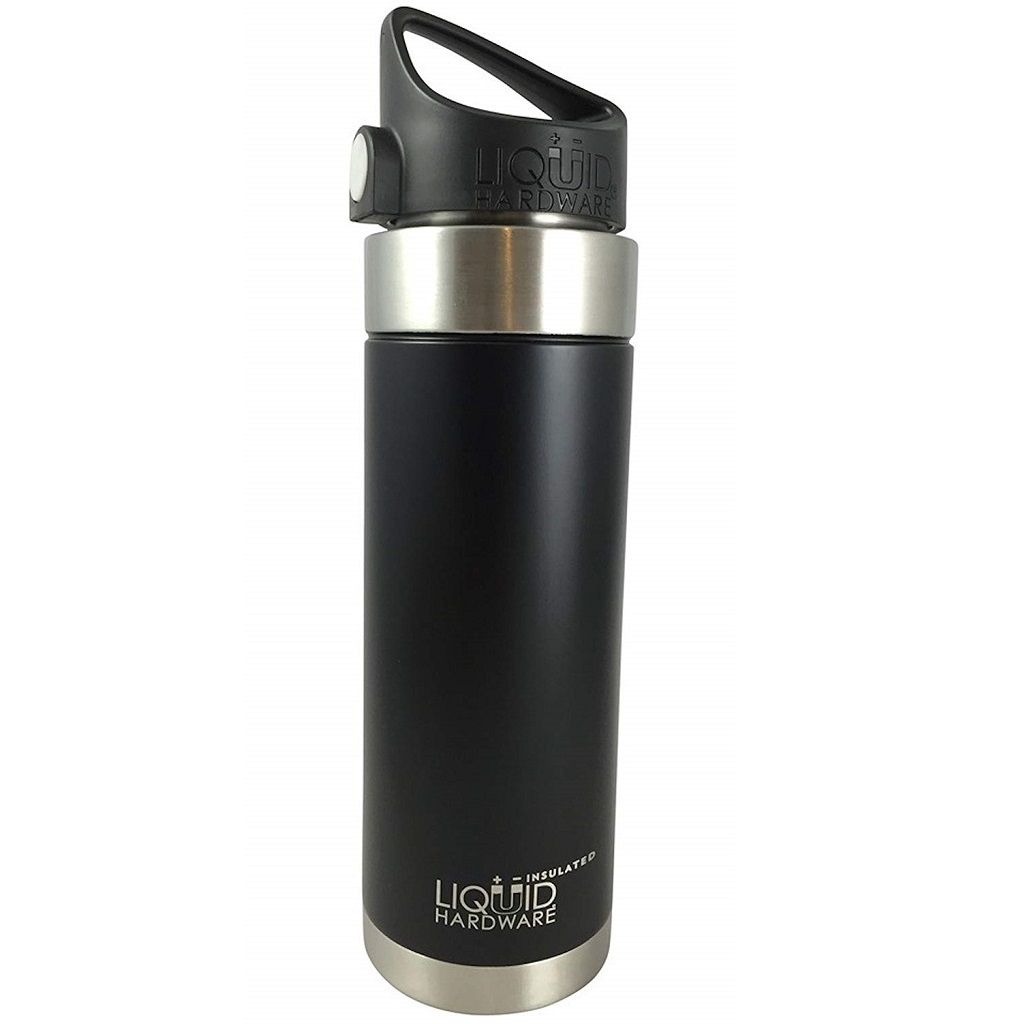 Vacuum Insulated Water Bottle - Black Powder Coated