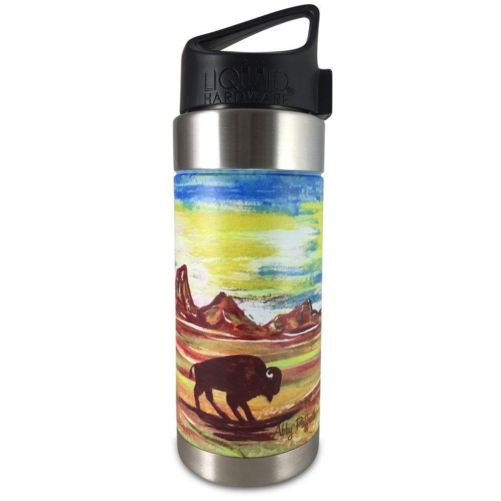 Vacuum Insulated Water Bottle - Artist Series by Abby Paffrath - Totanka