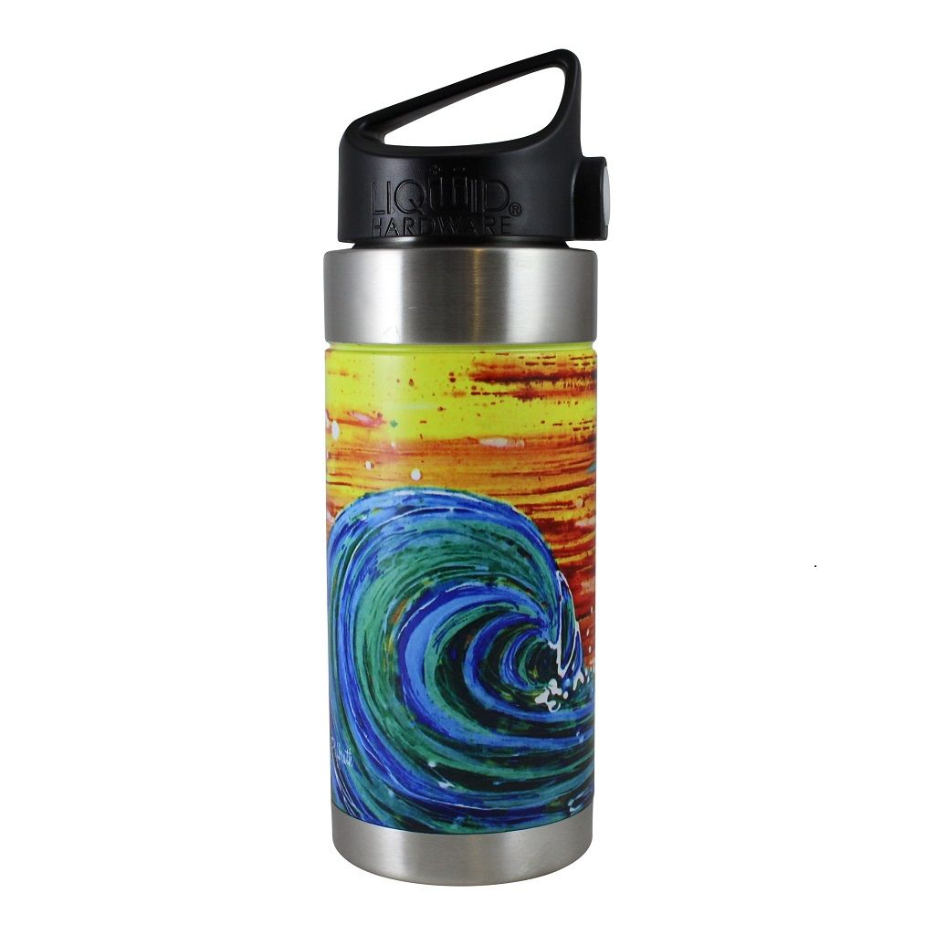 Vacuum Insulated Water Bottle - Artist Series by Abby Paffrath - Sunset Surf