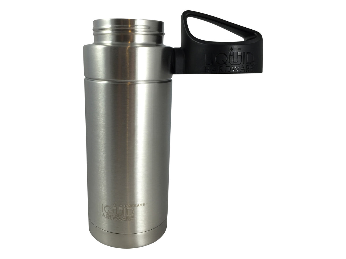 Insulated Water Bottle - Brushed Stainless - Magnetic Lid
