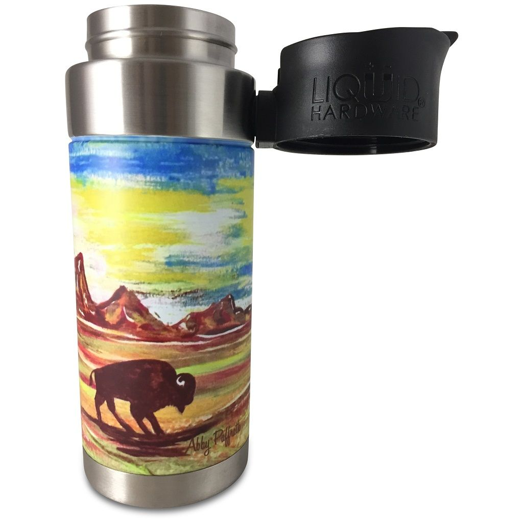 insulated coffee mug - abby paffrath Totanka lid off