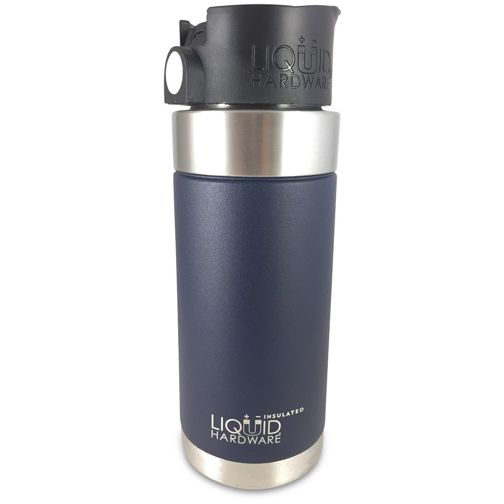 insulated coffee mug - Powder coated deep blue