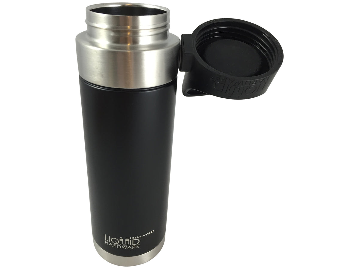 Insulated Water Bottle - Matte Black - Magnet Lid