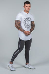 Super Skinny Spray on Jeans - Grey Non Ripped Stripe