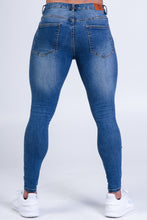 Load image into Gallery viewer, Alexander Jeans Light Blue Ripped & Repaired Super Stretch Denim Jeans