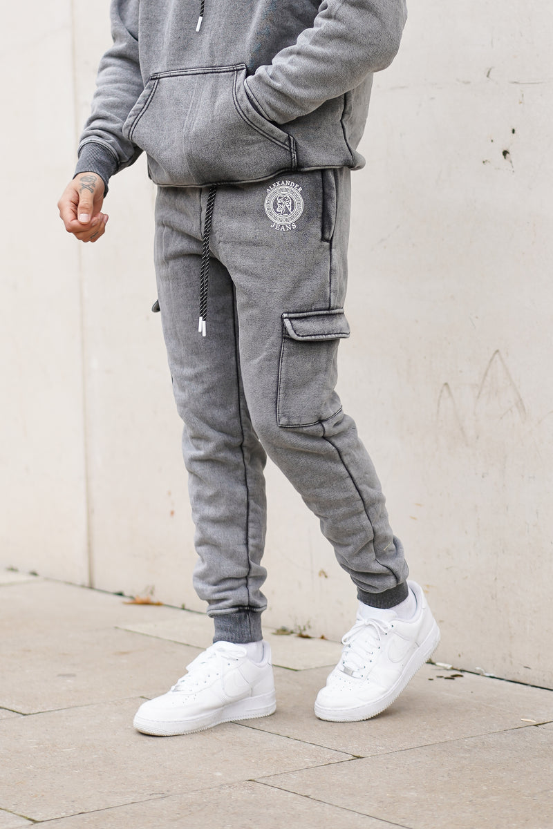Light Grey Acid Wash Joggers