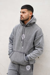Light Grey Acid Wash Hoodie