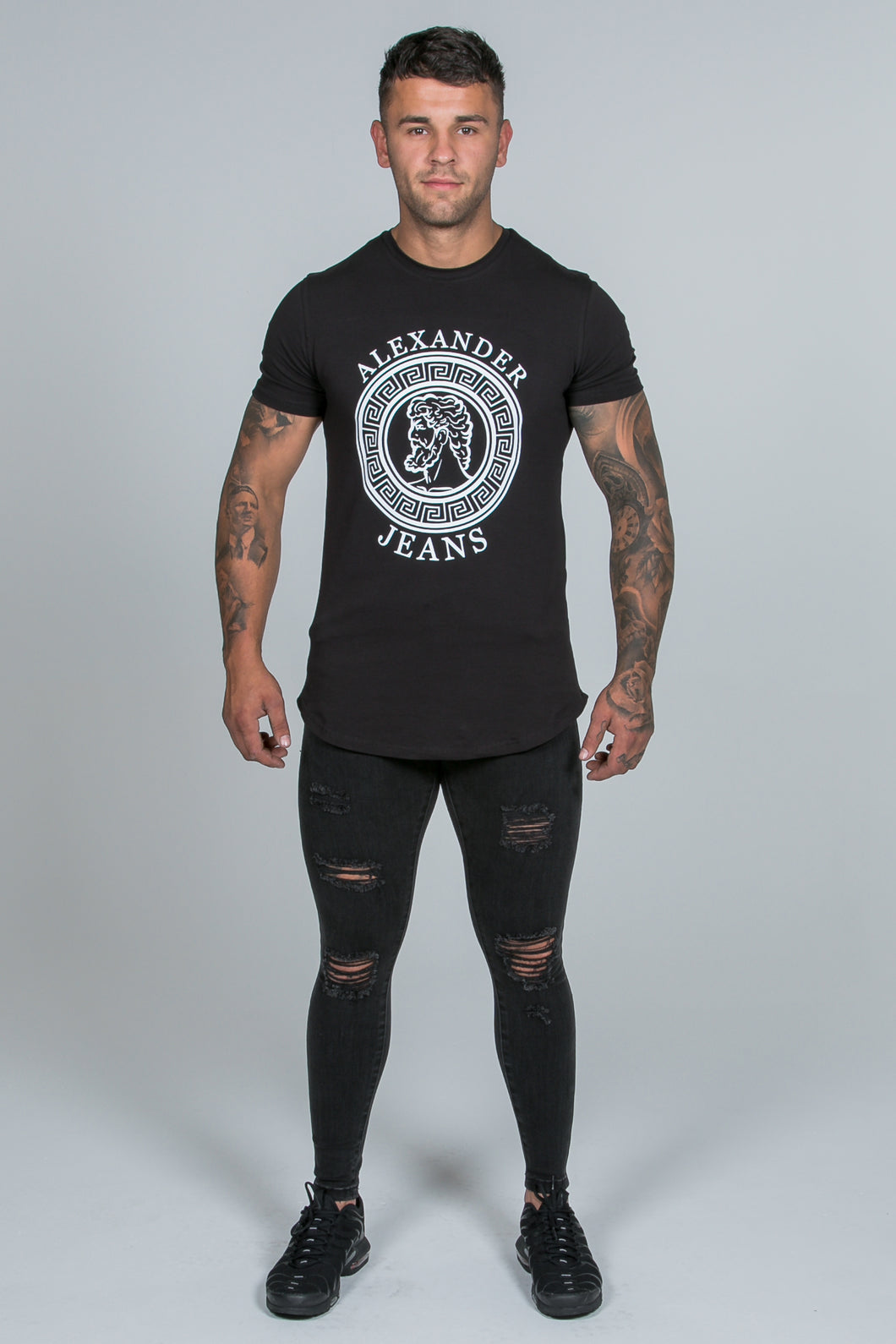 Super Skinny Spray on Jeans – Charcoal Distressed