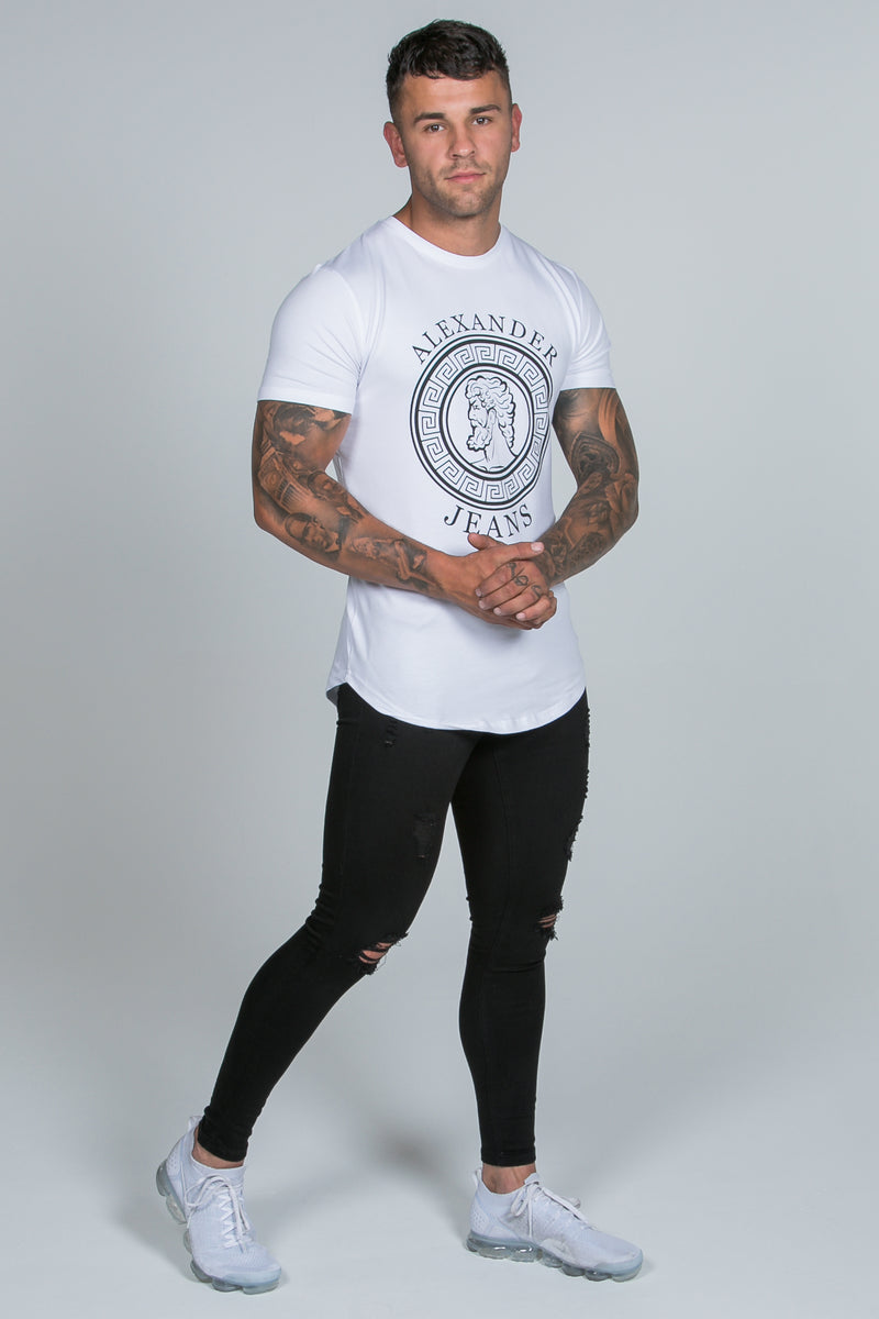 Super Skinny Spray on Jeans – Black Ripped & Repaired