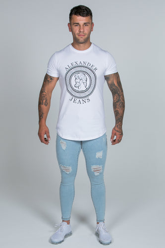 Super Skinny Spray on Jeans – Light Blue Ripped & Repaired