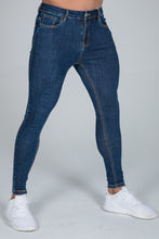Load image into Gallery viewer, Super Skinny Spray on Jeans – Dark Blue Non Ripped