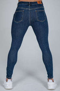 Super Skinny Spray on Jeans – Dark Blue Non Ripped