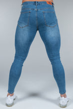 Load image into Gallery viewer, Super Skinny Spray on Jeans – Blue Non Ripped