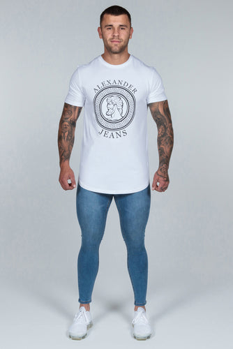 Super Skinny Spray on Jeans – Blue Non Ripped