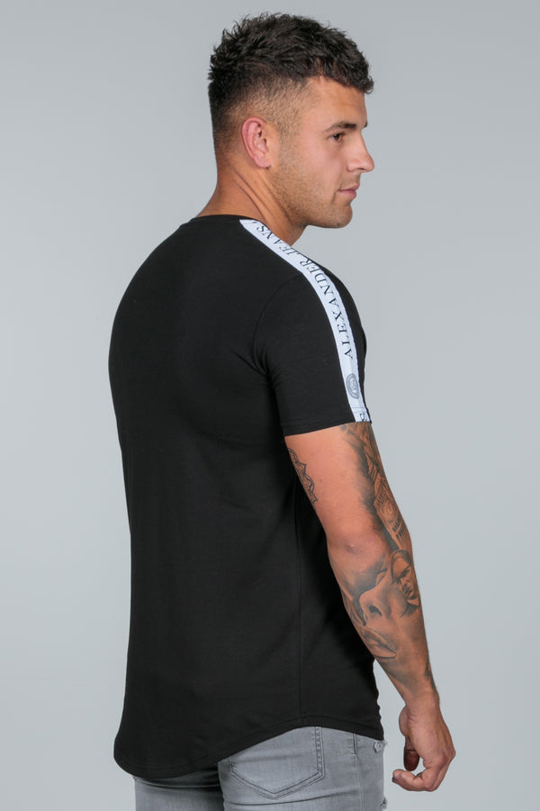 Black Taped Logo T Shirt