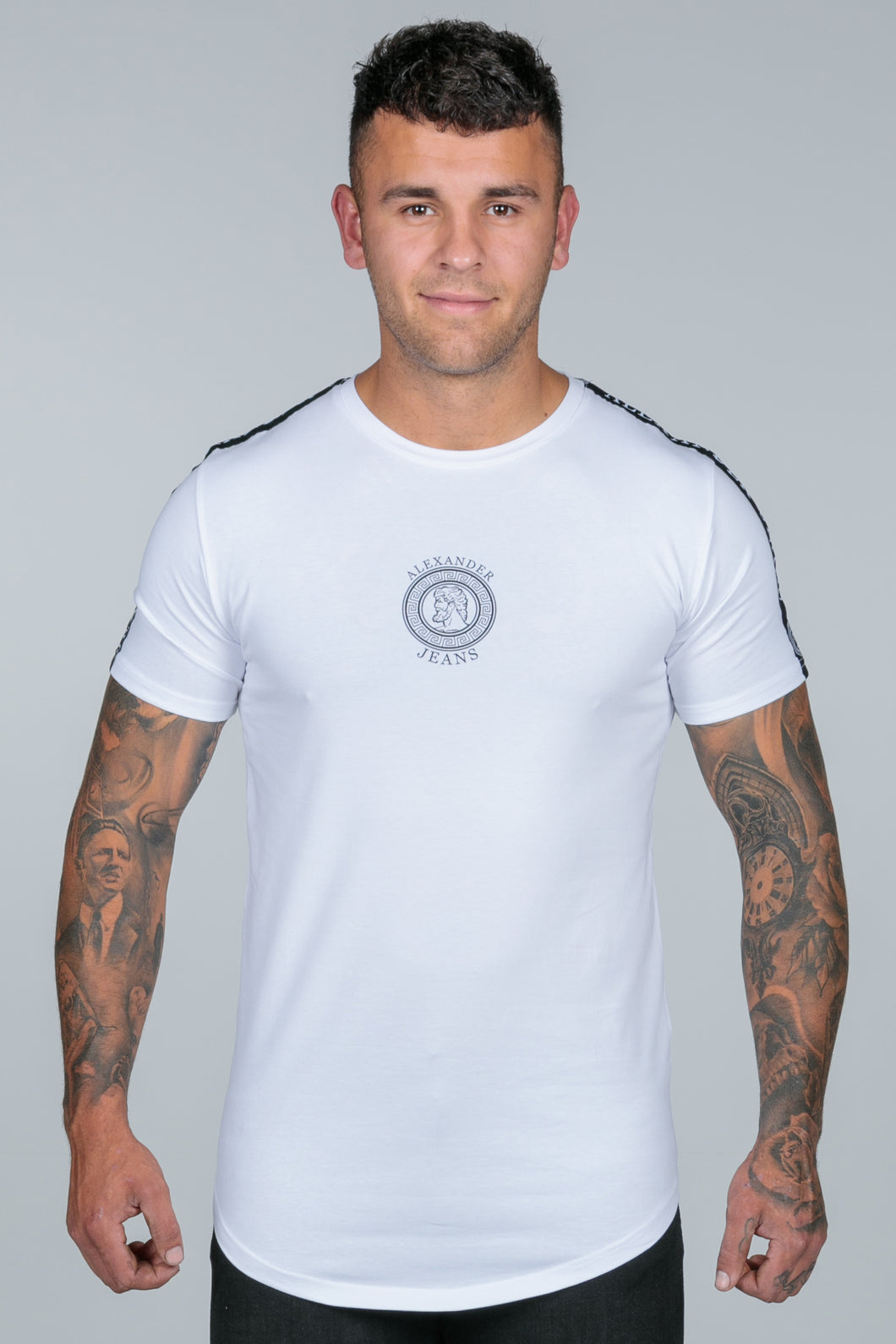 White Taped Logo T Shirt