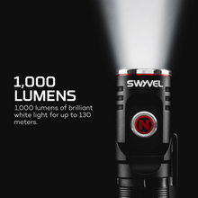 Load image into Gallery viewer, 1,000 Lumens of brilliant white light for up to 130 meters