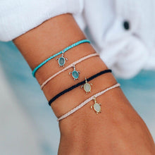 Load image into Gallery viewer, Silver Save the Sea Turtle Bracelet