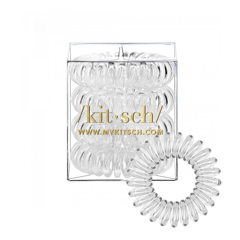KITSCH - Transparent Hair Coils - Pack of 4