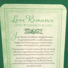 Load image into Gallery viewer, Back Side of Jane Austen's Little Book About Life