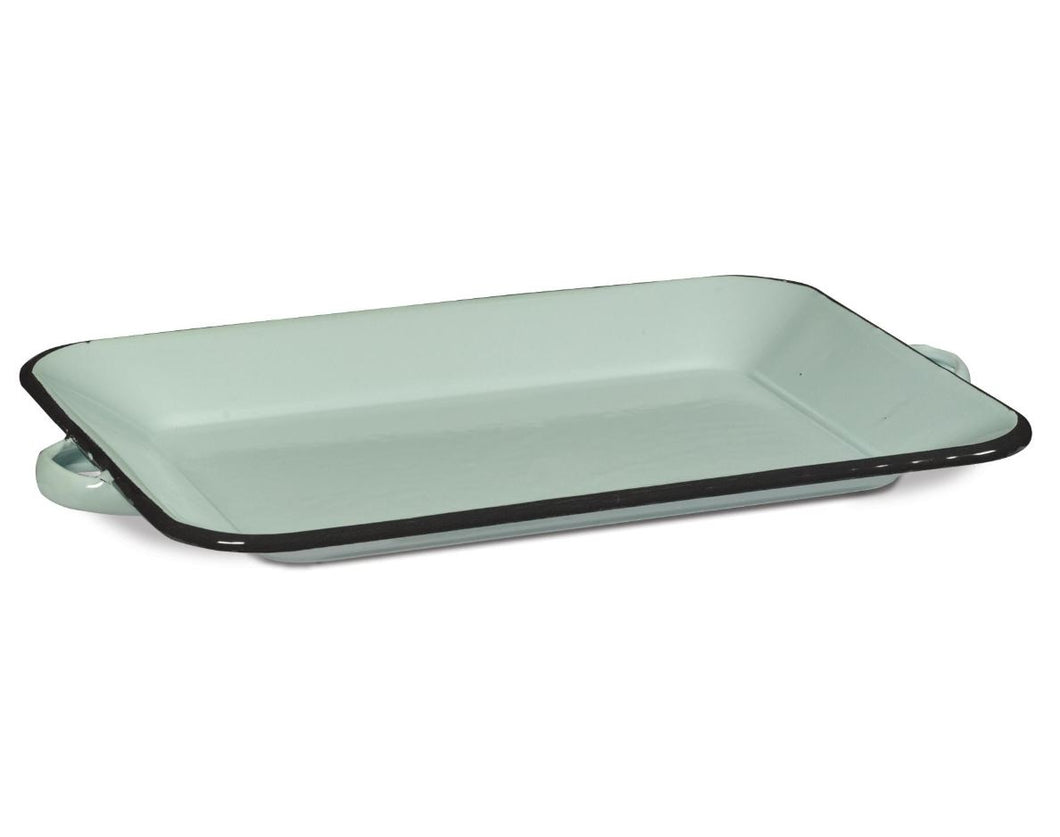 Farmhouse Enamelware Rectangular Tray