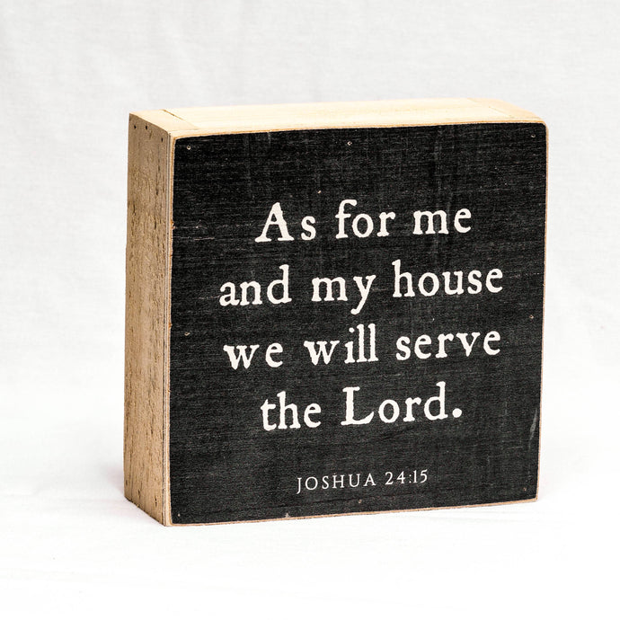 Quote | As For Me And My House