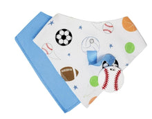 Load image into Gallery viewer, Silli Bandana Bib Set with Teether