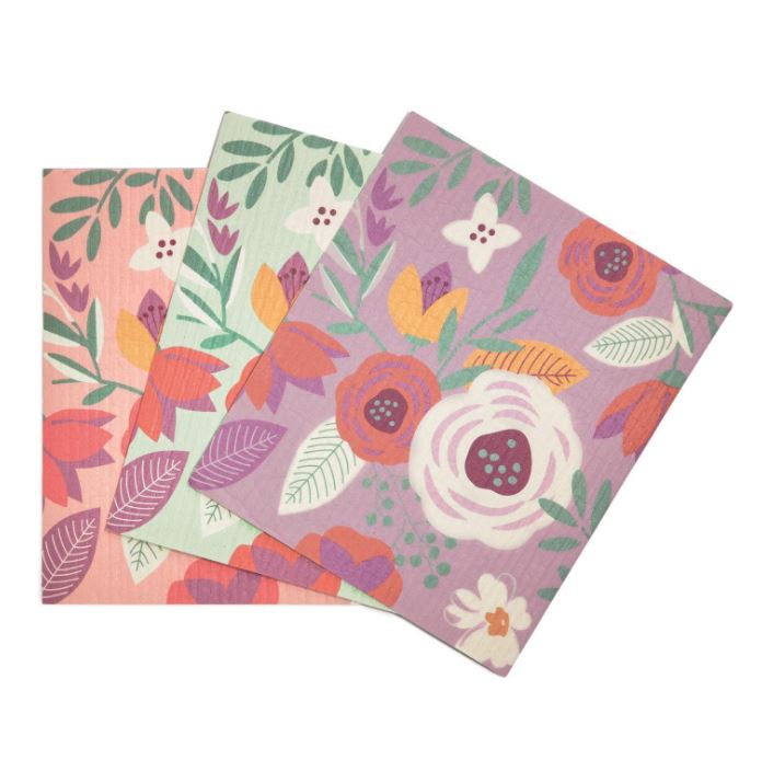 Spring Cleaning Floral Multipurpose Kitchen Cloth