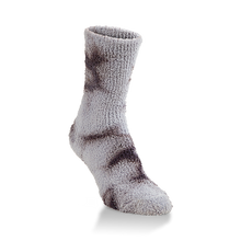 Load image into Gallery viewer, gray tie dye sock from World's Softest