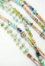 "Load image into Gallery viewer, Anne Vaughan Fresh Air Collection - 50-52"" Long Gemstone Collagelayer Necklace"