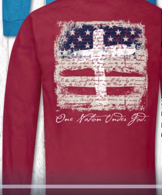 Southern Couture LS Tee - One Nation Under God