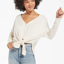 Load image into Gallery viewer, zt211984-bne- z supply calli rib hacci cardigan  with front tied