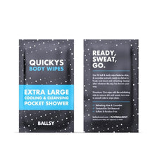 Load image into Gallery viewer, Ballsy | Quicky's Body Wipes pk 15