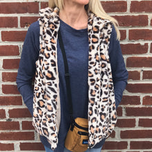 Load image into Gallery viewer, Leopard Faux Fur Vest