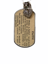 Load image into Gallery viewer, Kate Mesta Dog Tag - Dictionary Definition of Faith