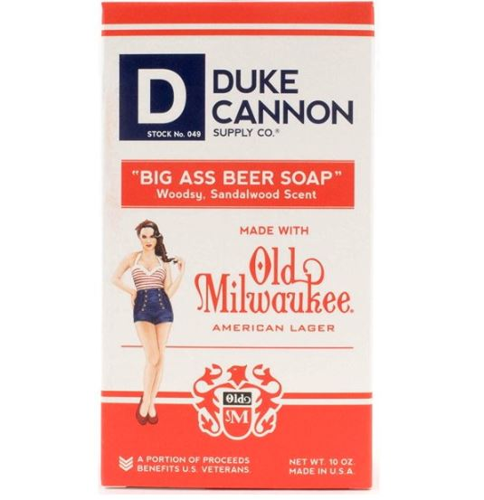 Men's Soap - Duke Cannon - Big Ass Beer Soap - Old Milwaukee American Lager