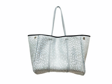 Load image into Gallery viewer, Parker and Hyde grey fawn neoprene tote