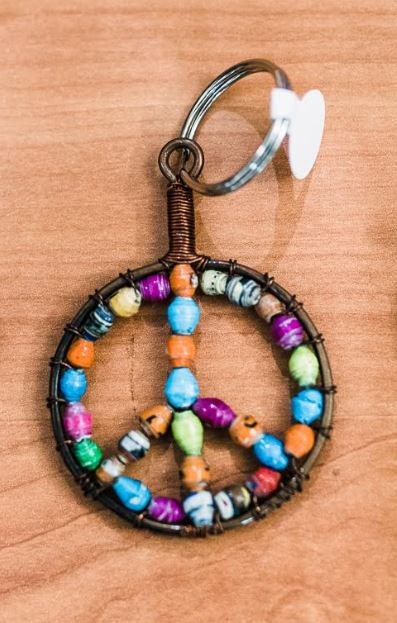 Paper Bead Keychains